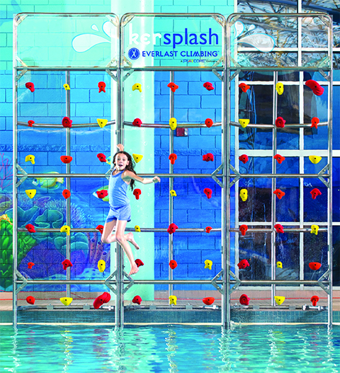 Kersplash Pool Climbing Walls